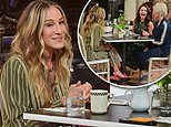 Sarah Jessica Parker dines with Kristin Davis and Cynthia Nixon on And Just Like That set