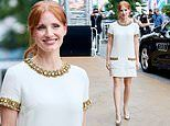 Jessica Chastain is a vision in white and gold for theSan Sebastian International Film Festival