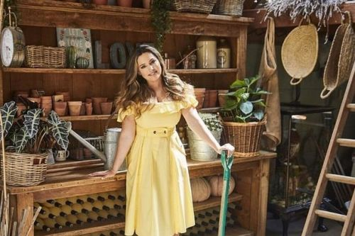 Kelly Brook's sprawling 15th century cottage with idyllic garden and gin hut