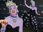 Katy Perry paints face purple to play The Little Mermaid's Ursula for American Idol's Disney night