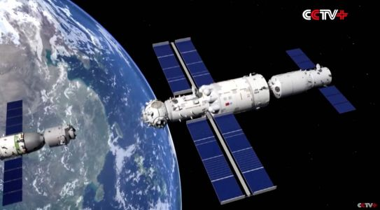 Shenzhou crew departs Chinese space station, heads for Earth
