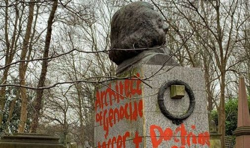 Karl Marx grave vandalised AGAIN - 'Architect of GENOCIDE' daubed on memorial
