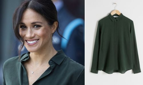 Meghan Markle's gorgeous green & Other Stories shirt is finally back in stock, and totally affordable