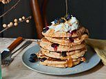 Make it easy with MarcusWareing:  Blueberry pancakes with lemon and honey strained yoghurt