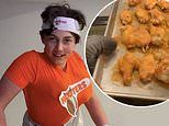 14-year-old hosts a 'Hooters night' for his family, dressing as a busty waitress and serving wings