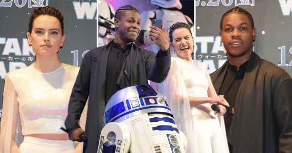 Daisy Ridley and John Boyega join forces with Star Wars co-stars and crew at fan event
