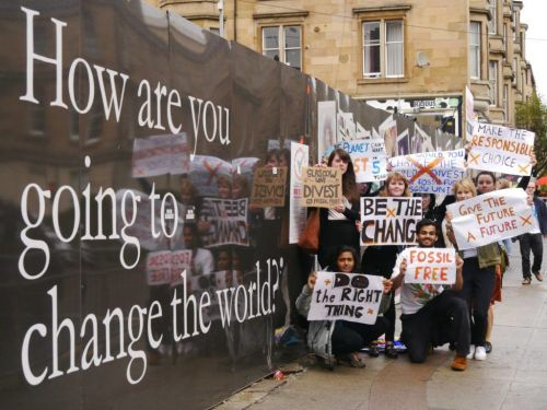 Campaign stories: looking back at Glasgow University's fossil free first