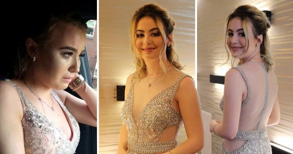 Teen who had drink poured over her at prom by bully fights back with stunning photoshoot
