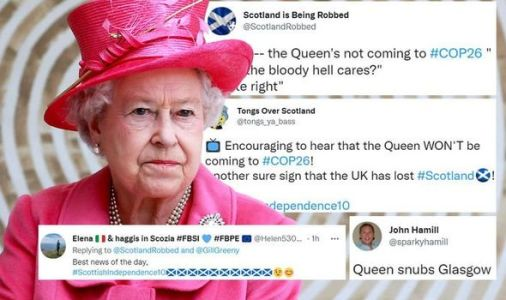 SNP supporters celebrate Queen's health woes - royal outrage over COP26 withdrawal