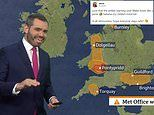 BBC viewers are left in hysterics by a VERY rude-looking weather warning