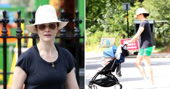 Rachel Weisz keeps it low-key as she enjoys London sunshine with her baby daughter