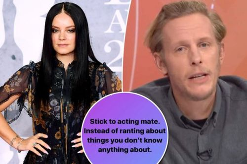Lily Allen attacks Laurence Fox's views on Meghan Markle after Question Time clash