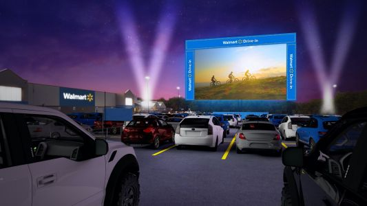 Walmart is turning parking lots in 26 states into drive-in movie theaters. Here's how to get tickets