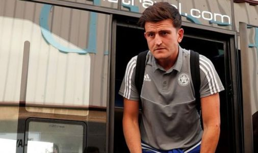Harry Maguire pictured at Leicester friendly as Foxes send transfer message to Man Utd