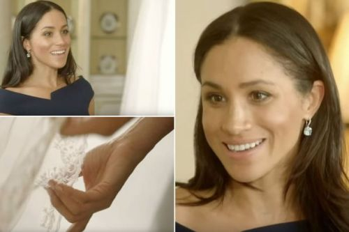 Meghan Markle's beautiful reaction when she's reunited with her stunning wedding dress for new TV show