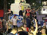 Tartan Army's night of carnage: Scotland fans trash Leicester Square
