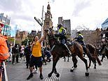 Man accused of punching Tobruk the police horse at anti-lockdown protest is kept behind bars