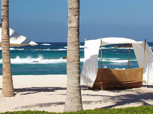 A Four Seasons in Mexico is setting up 'study cabanas' and hiring a poolside 'screen doctor' in a bid to pull in families during the school year