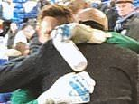 West Ham goalkeeper David Martin shares tearful embrace with his father Alvin