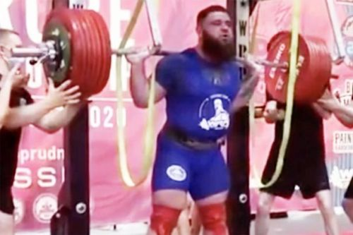 Powerlifter fractures both knees in horror 400kg squat collapse as legs give way