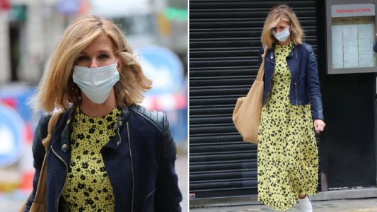 Kate Garraway masks up as she heads to Global amid return to Good Morning Britain