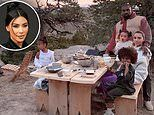 Kim Kardashian West continues her love affair with Wyoming in latest Instagram snap her family