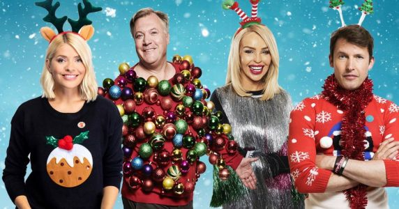 Holly Willoughby, James Blunt and Ed Balls slip into something festive in support of Christmas Jumper Day 2019