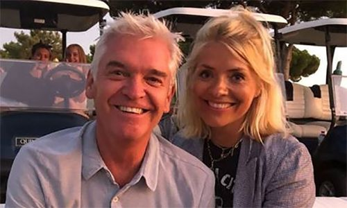Holly Willoughby and Phillip Schofield unite for fun night with their families
