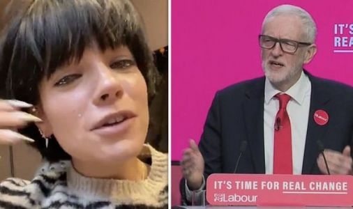 Lily Allen 'in tears' as she praises Jeremy Corbyn's 'real change' Labour manifesto