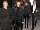 Hugh Grant, 62, and his wife Anna Eberstein, 42, enjoy an evening at LouLou's