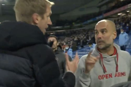 Pep Guardiola clears up Graham Potter relationship after Man City vs Brighton spat