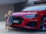 Audi retracts 'provocative' advert showing young girl leaning against a car while eating a banana