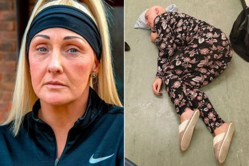 Harrowing photo shows mum having seizure on A&E floor after 'being refused bed'