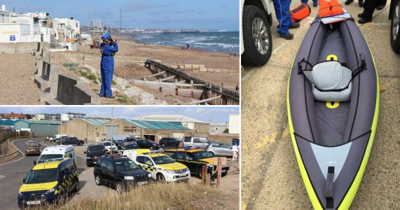 Search for missing kayaker continues as kayak and paddle wash ashore