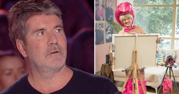 Simon Cowell storms out of Britain's Got Talent auditions and 'goes home' after man paints portrait of him using his penis