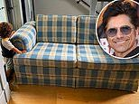 John Stamos reveals he's using the iconic Full House couch as a baby gate