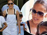 Jennifer Lopez enjoys lunch with her kids in Miami while her new movie Hustlers soars at box office