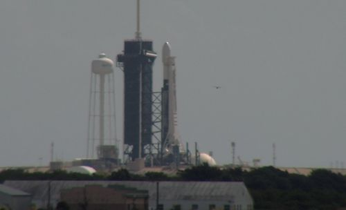 After delays, Falcon 9 rocket back on launch pad with Starlink satellites
