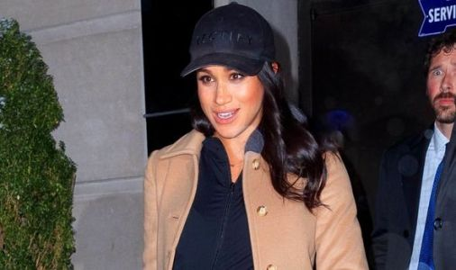 Meghan Markle wears extravagant baby shower gift as she leaves New York for London