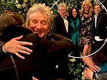 Rod Stewart embraces Ronnie Wood as lockdown restrictions end and celebs FINALLY paint the town red