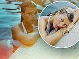 Sofia Richie puts her natural beauty on display in a white bikini as she takes a dip in the pool