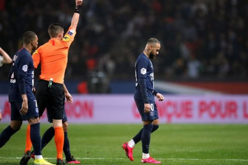 Neymar sent off for reckless late challenge as PSG beat Bordeaux in Ligue 1