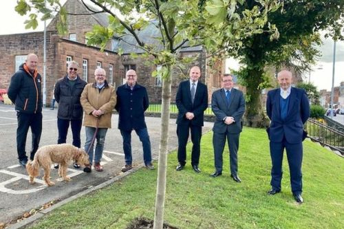 Tree planting in Castle Douglas in build up for Queen's platinum jubilee celebrations