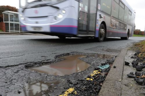 A whole load of complaints about potholes
