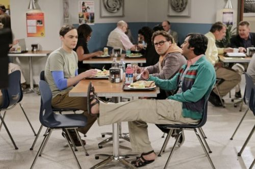 The Big Bang Theory fans notice peculiar error with Sheldon Cooper's 'spot' in the canteen