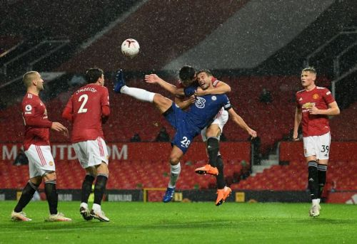 Photos: Suggestions that Man United were also denied a penalty vs Chelsea due to holding on Maguire and McTominay