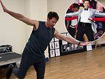 Hugh Jackman hones his dance moves as he prepares to take his tour to the US