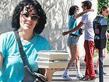 Rumer Willis channels major 90s vibe in teal top and Daisy Dukes during lunch outing with friends