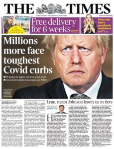 Newslinks for Tuesday 13th October 2020