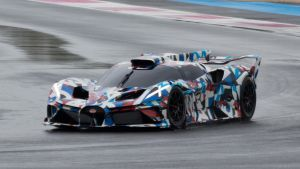 Mysterious new Bugatti '0.67' racer spotted testing